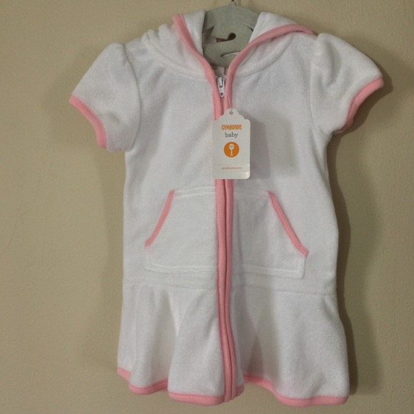 d4d57bdb12 NWT Gymboree White Terry Hooded Swim Cover Up